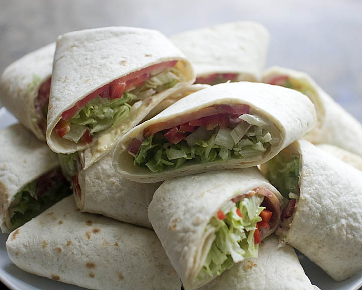 Veggie Wraps with Herbed Cream Cheese & Dijon