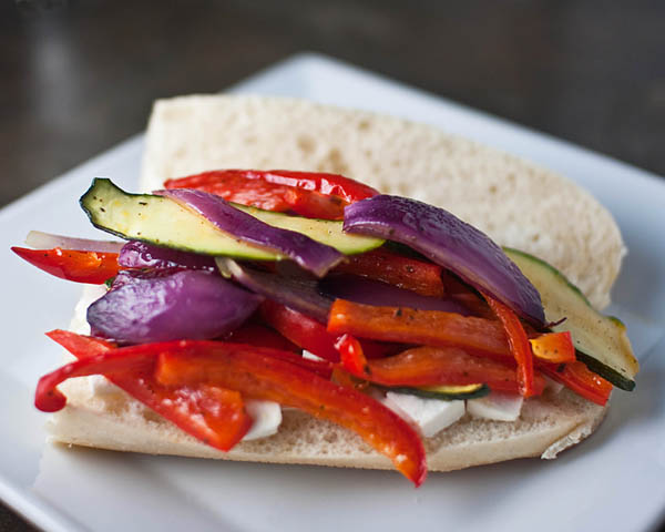 Roasted Veggie Panino