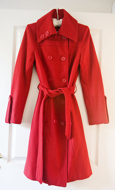 Thrifted Red Coat