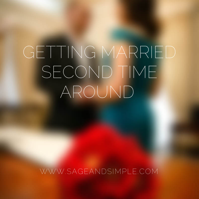 Getting Married Second Time Around