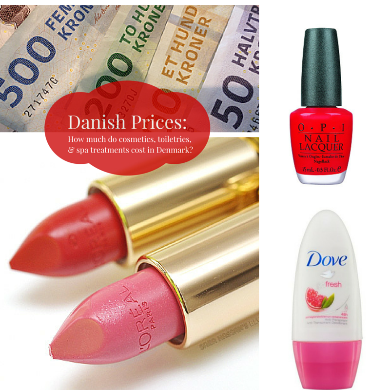 Danish Prices:  How much do cosmetics, toiletries & spa treatments cost in Denmark?