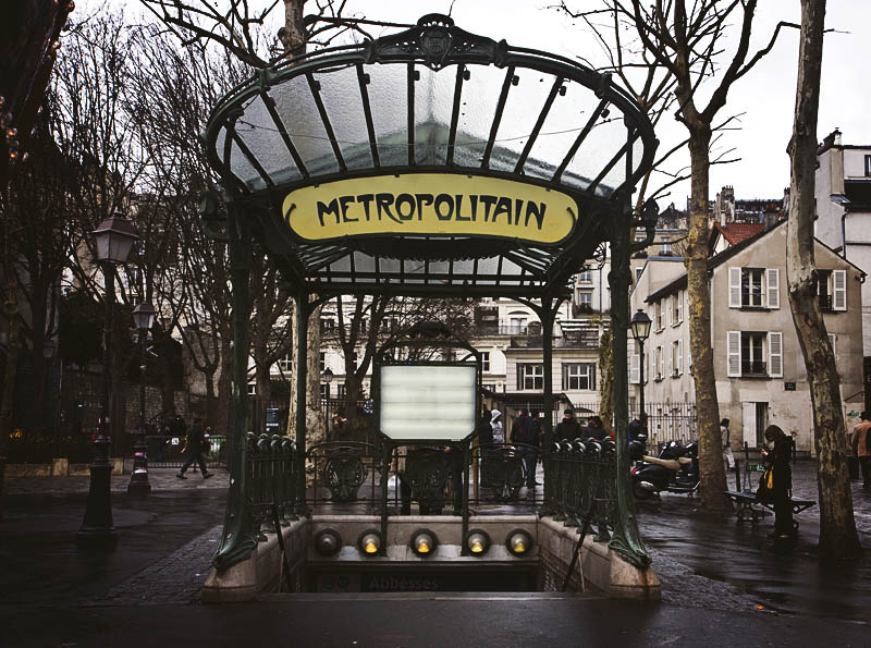 Guimard Paris Metro Art Nouveau Station Abbesses
