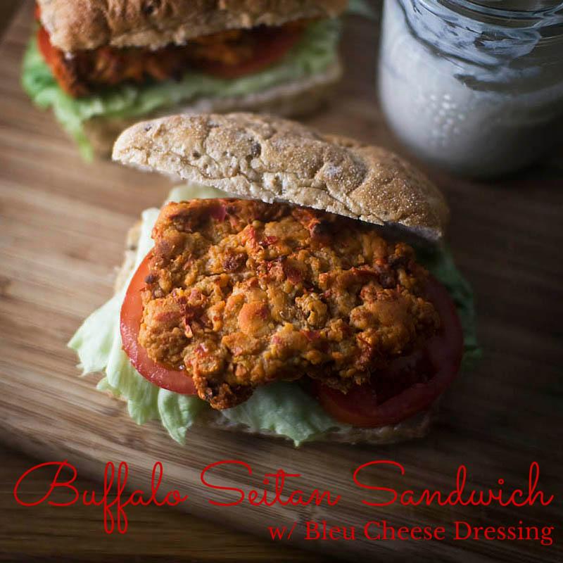 Buffalo Seitan Sandwich