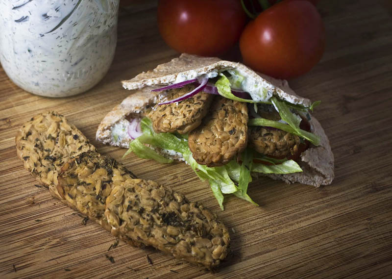 Vegetarian Gyros Recipe w/ Tzatziki