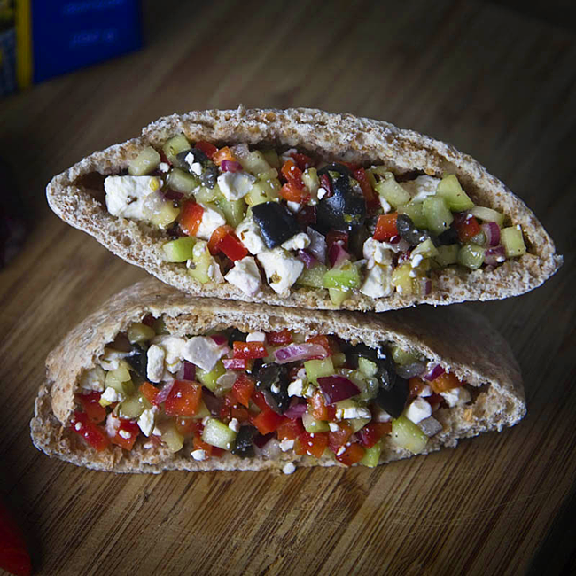 Greek Salad Pita Recipe