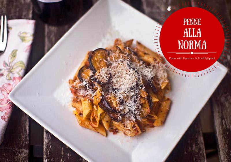 Penne alla Norma Recipe (penne with tomatoes & fried eggplant)