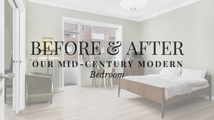 Before & After: Our Mid Century Modern Bedroom