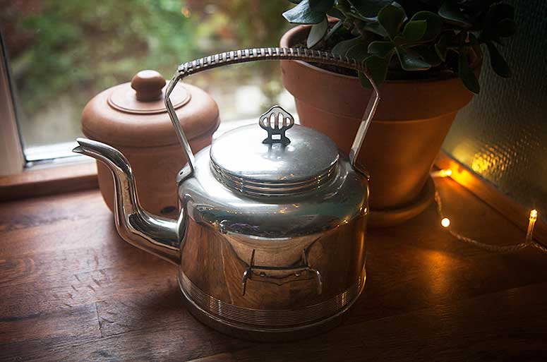 Thrift Shopping Finds - Vintage Tea Kettle