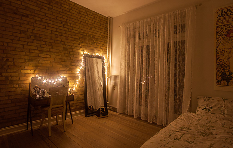 Hygge Bedroom with Fairy Lights